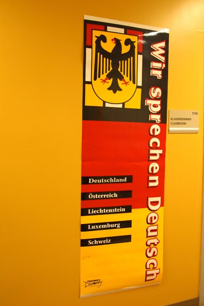 We speak German poster