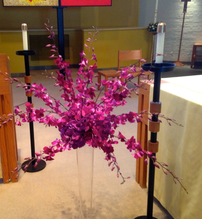 Flowers at the ceremony.