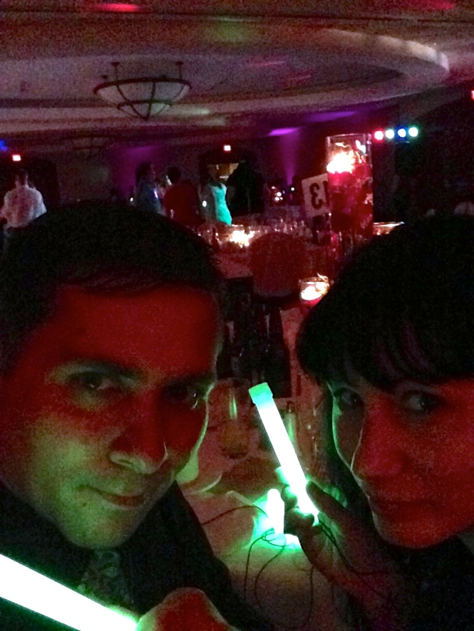 Everyone got glow sticks to dance with on the dance floor.