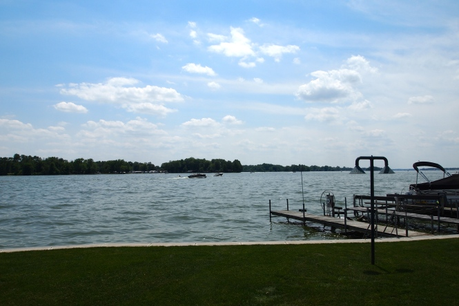 Visiting family on Buckeye Lake