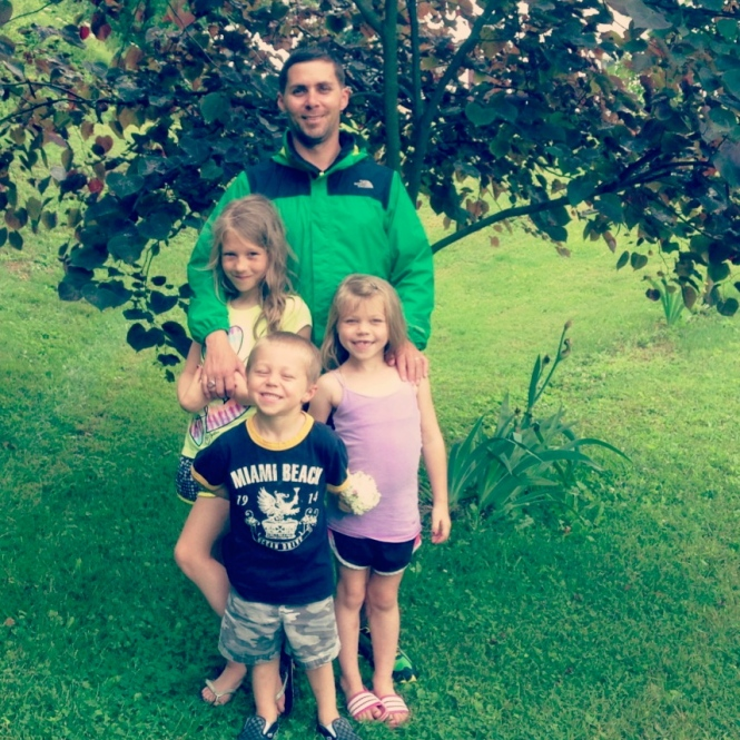 Father's Day photo - the kids with their amazing dad