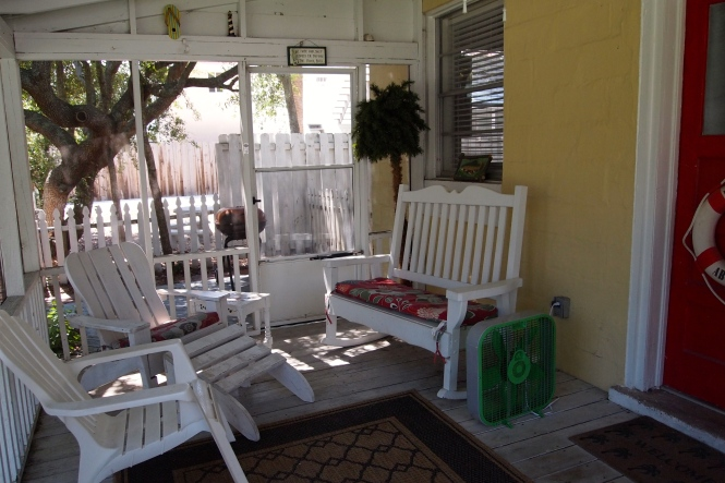 Ben and I spent several nights out here under the ceiling fan and relaxed as we listened to the cicadas.