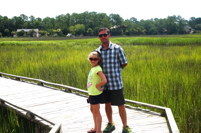Isabella and Ben on the boardwalk area