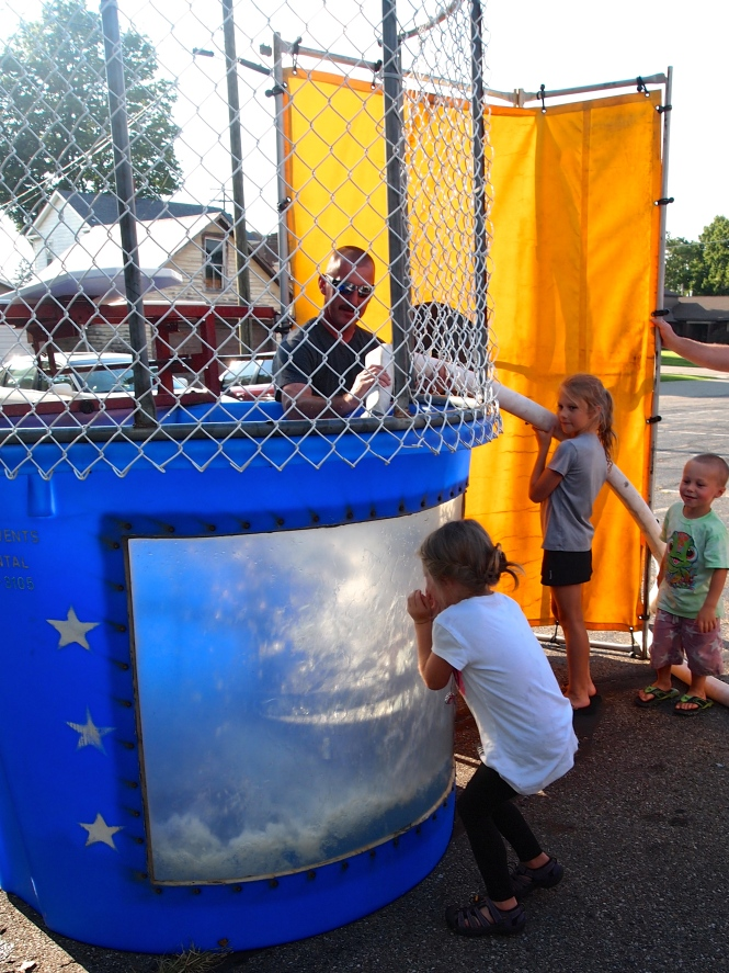 Filling the dunk tank