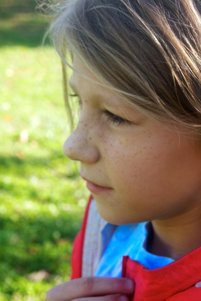 I love Isabella's freckles