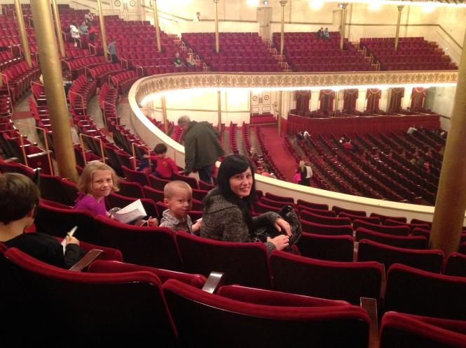 Isabella, Blackburn and I sat together.