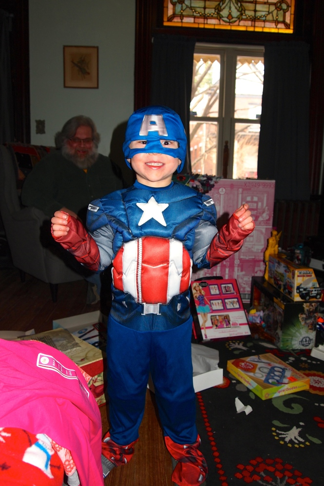 Captain America visited us.