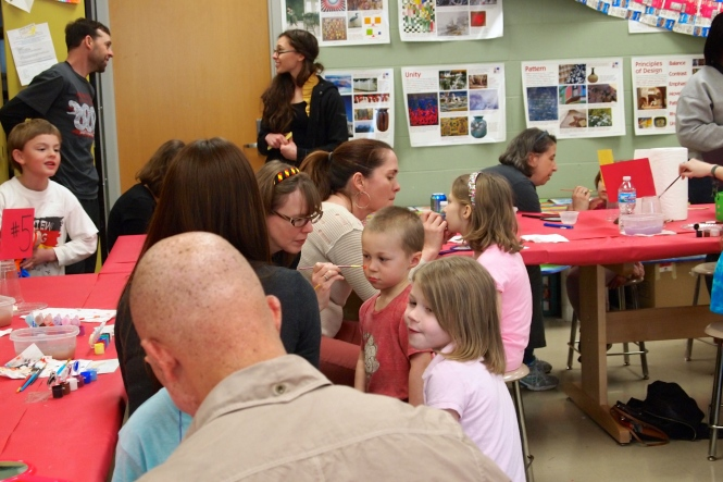 Face painting Station - always the first stop for our kids