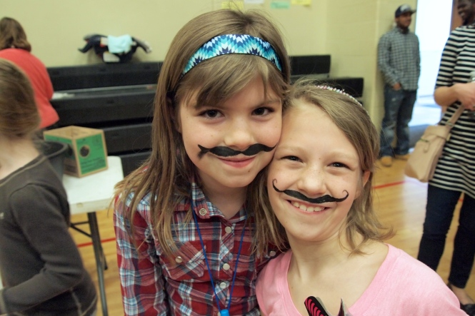 Bella and her friends are in a mustache club, it just so happened they did mustaches at the face painting station.